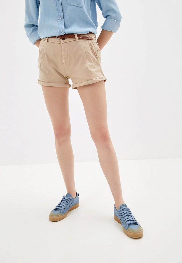 женские повседневные шорты alcott, бежевые
