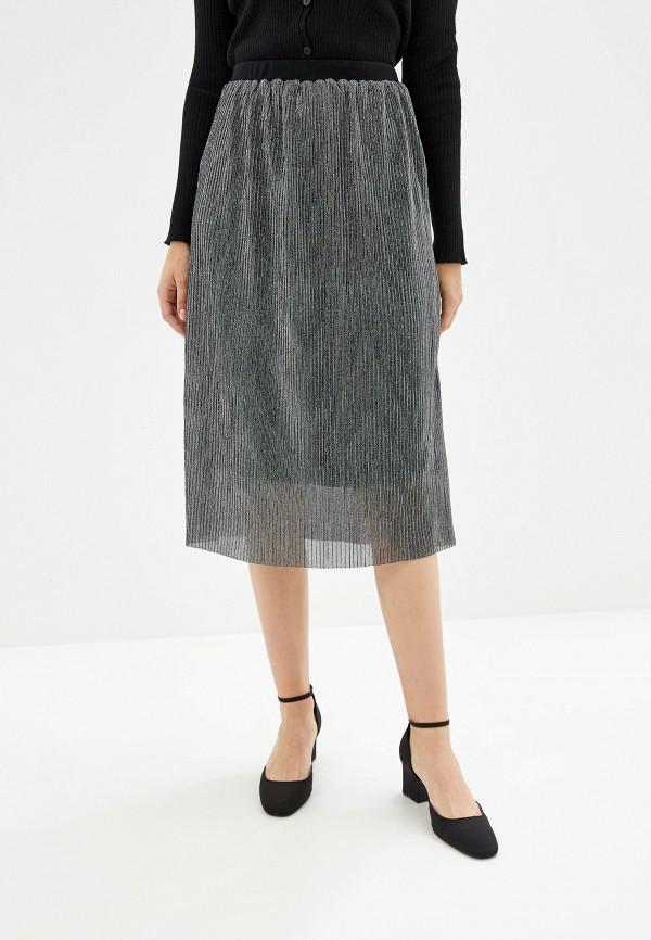 женская прямые юбка alcott, серебряная