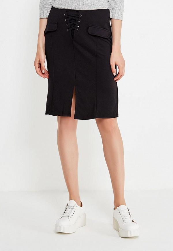 женская прямые юбка alcott, черная