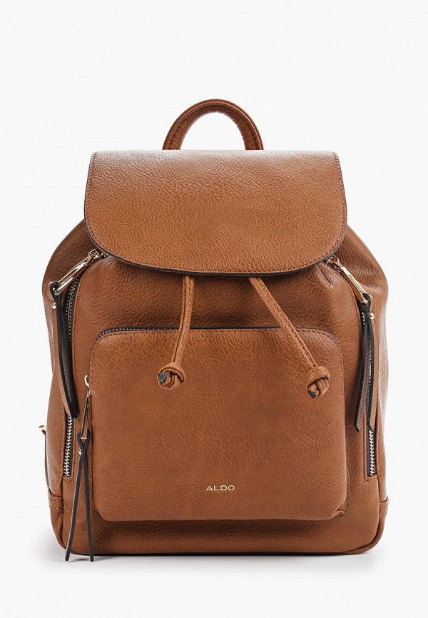 женский рюкзак aldo, коричневый