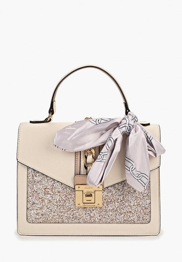 женская сумка aldo, бежевая