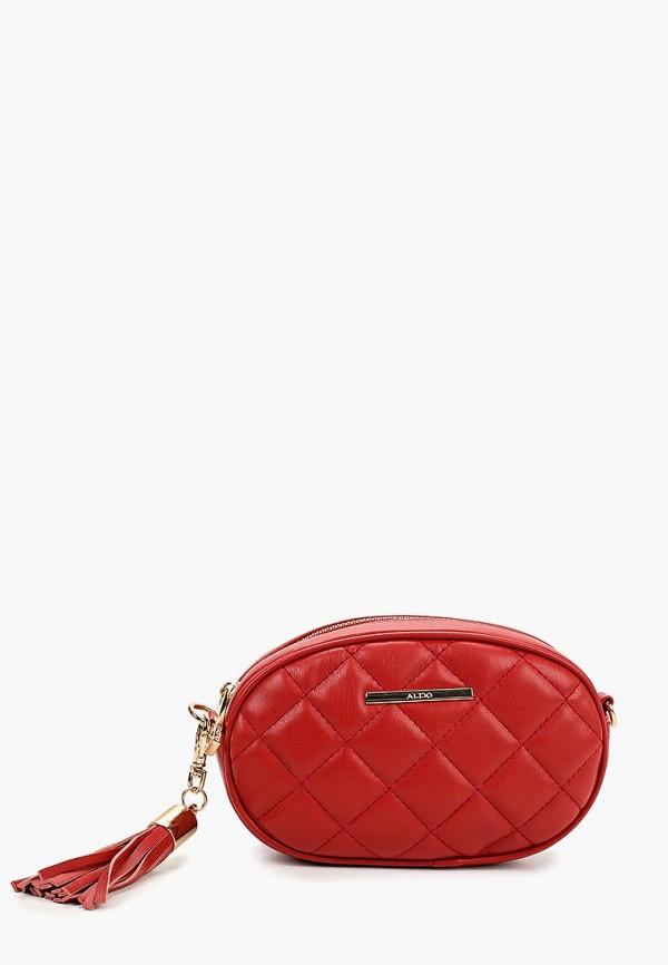 женская сумка aldo, красная