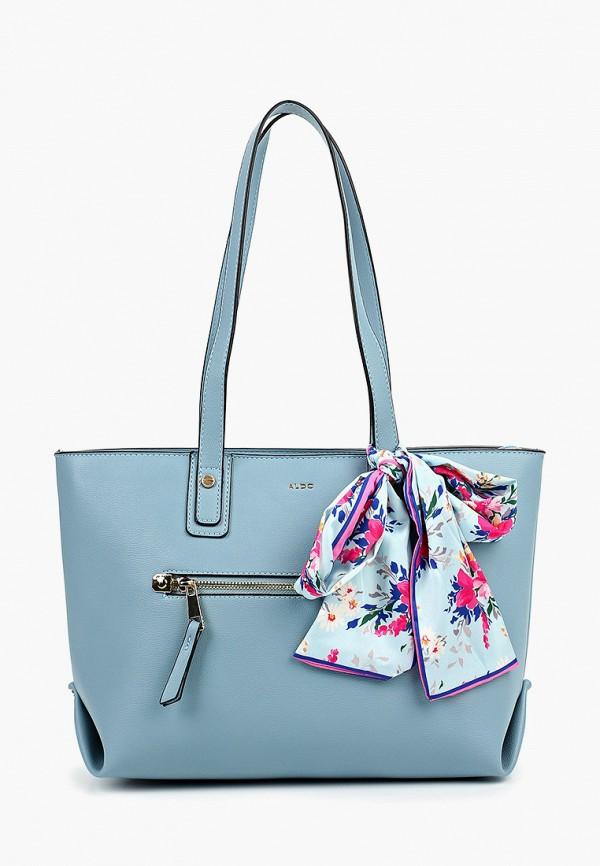 женская сумка aldo, голубая