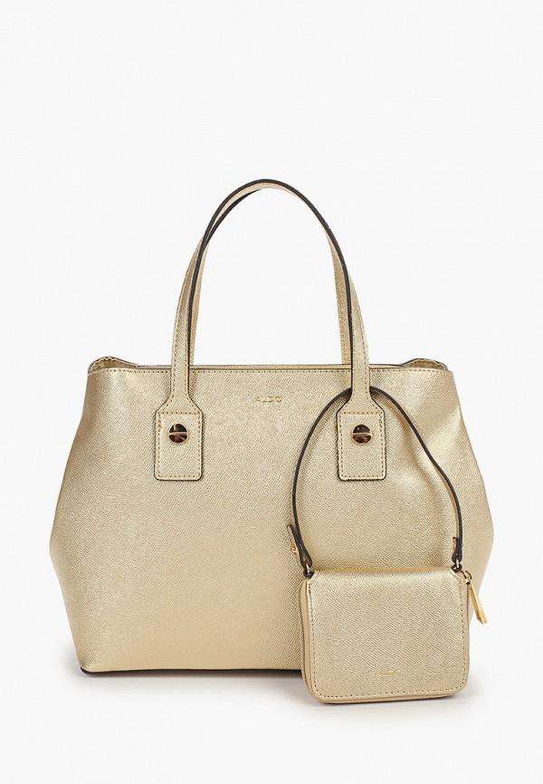 женская сумка aldo, золотая