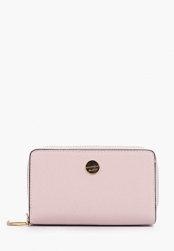 женский кошелёк aldo, розовый