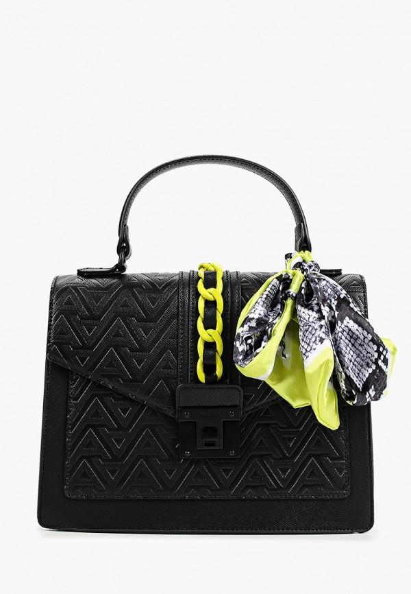 женская сумка с ручками aldo, черная
