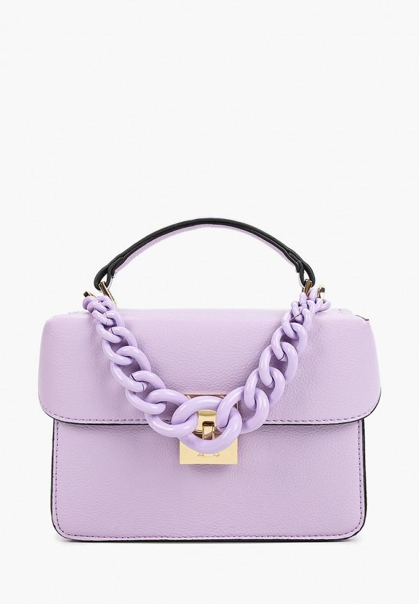 женская сумка через плечо aldo, фиолетовая