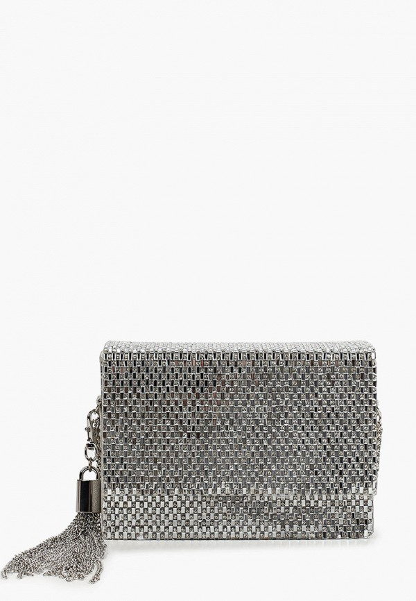 женская сумка через плечо aldo, серебряная