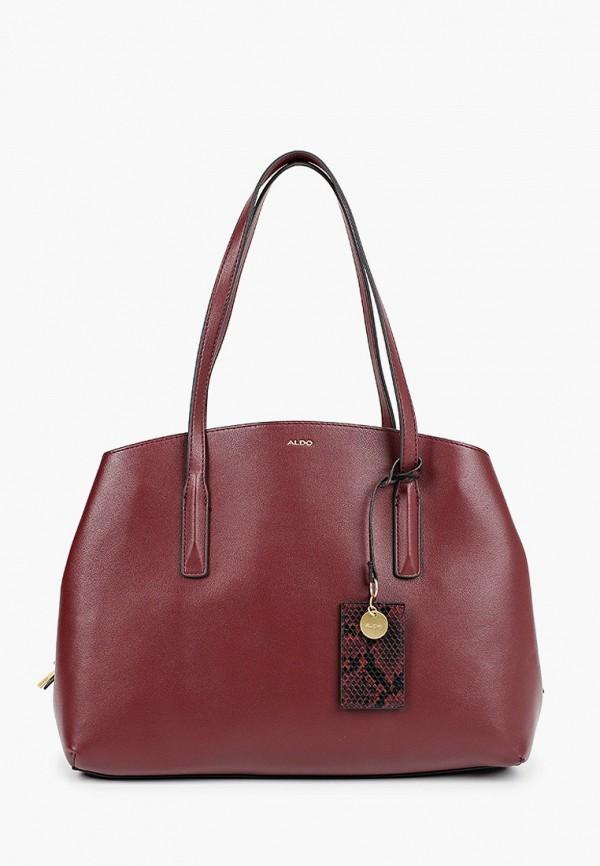 женская сумка aldo, бордовая