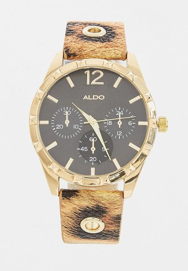 женские часы aldo, коричневые