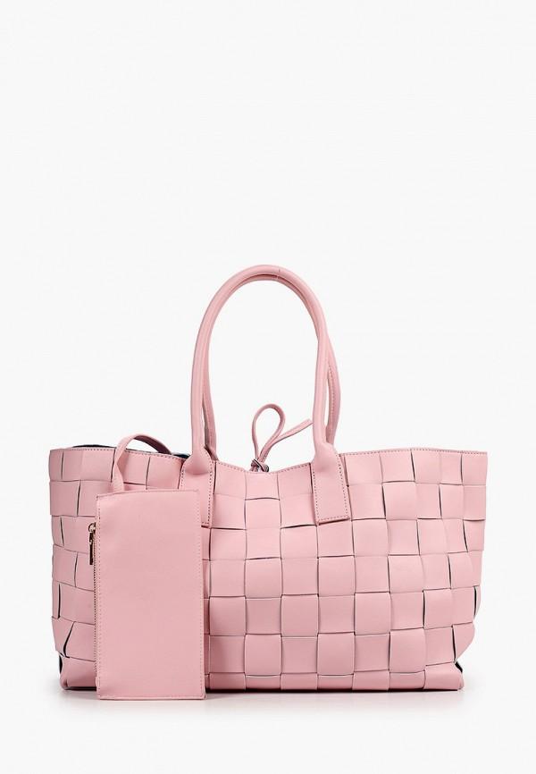 женская сумка с ручками allegri, розовая