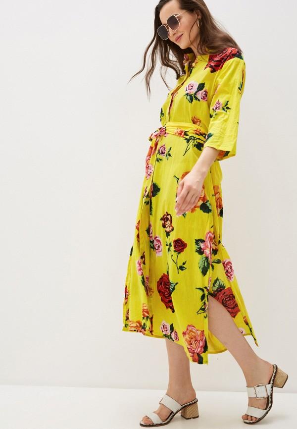 женское платье allegri, желтое