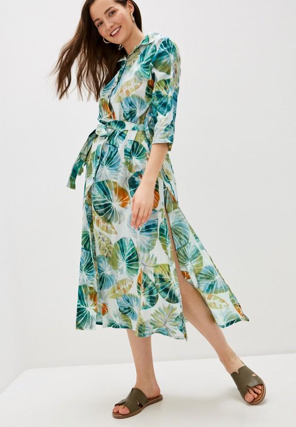 женское платье allegri, зеленое