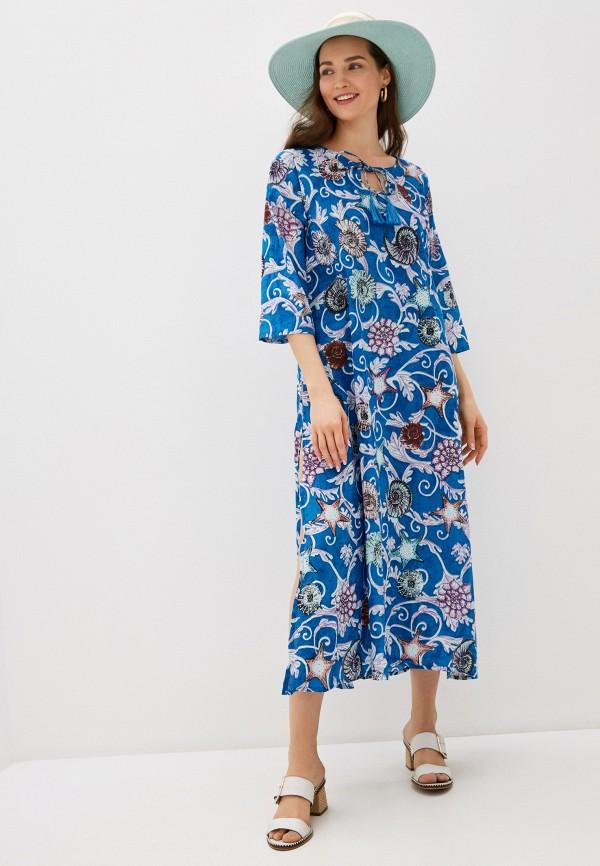 женское платье allegri, синее