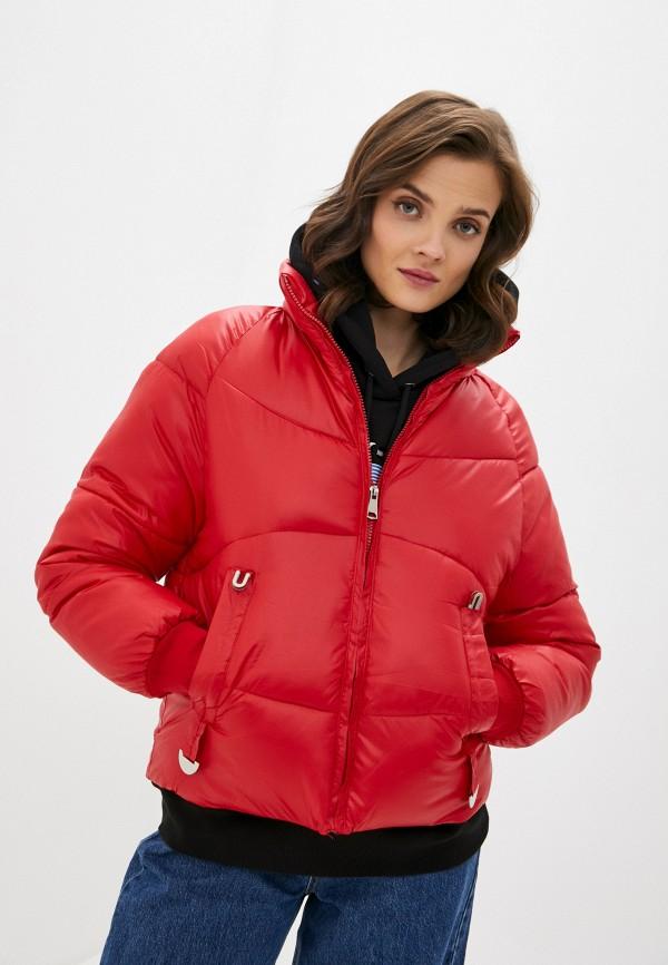 женская куртка allegri, красная