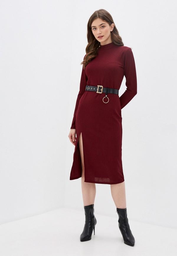 женское повседневные платье allegri, бордовое