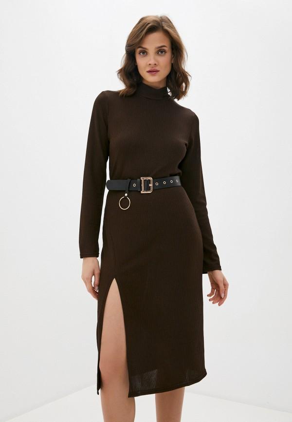 женское платье allegri, коричневое