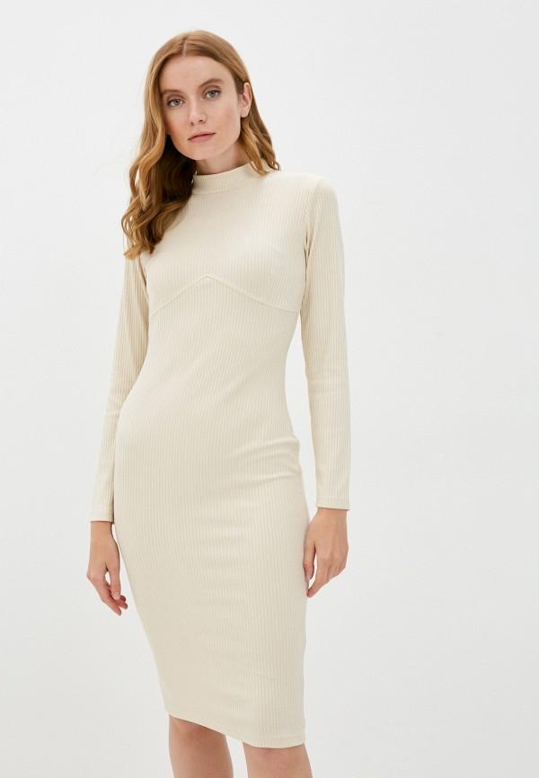 женское повседневные платье allegri, бежевое