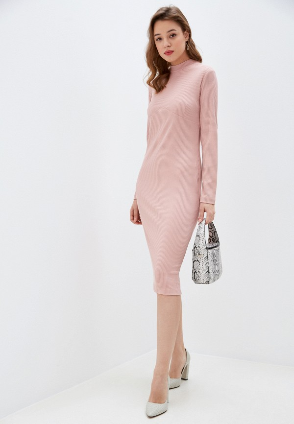 женское повседневные платье allegri, розовое