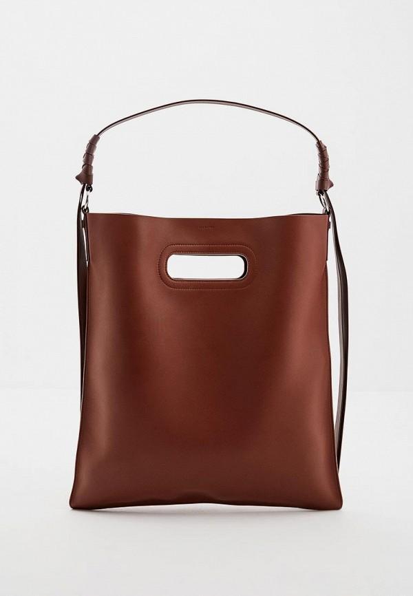 Сумка-шоппер  - коричневый цвет