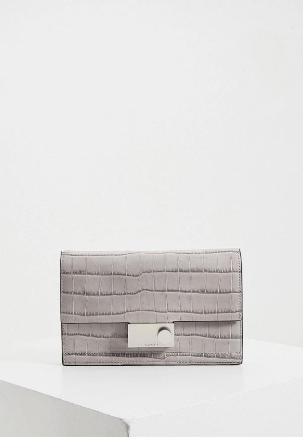 женский кошелёк allsaints, серый