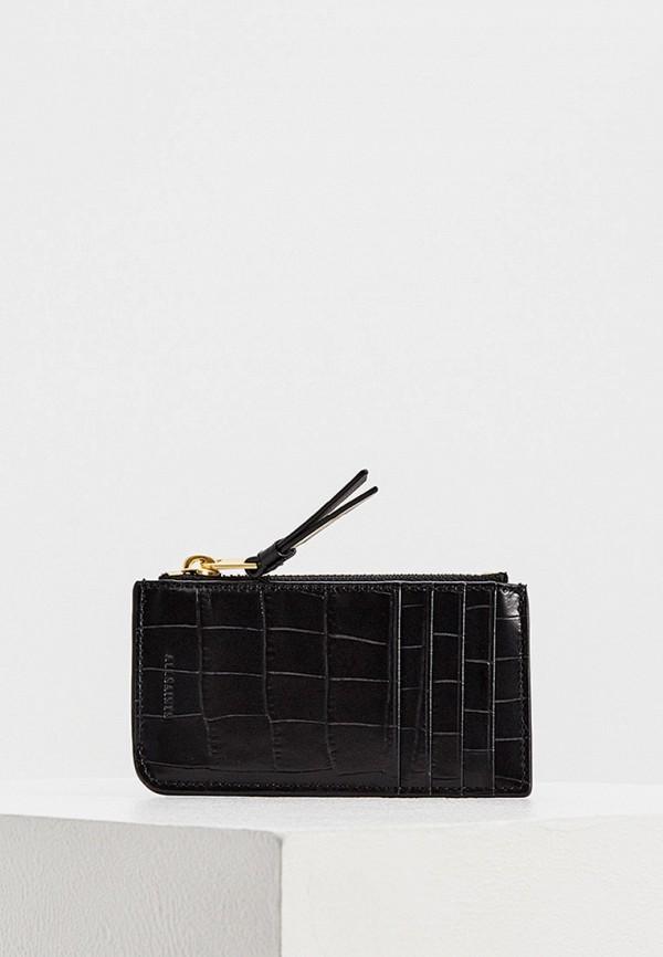 женский кошелёк allsaints, черный