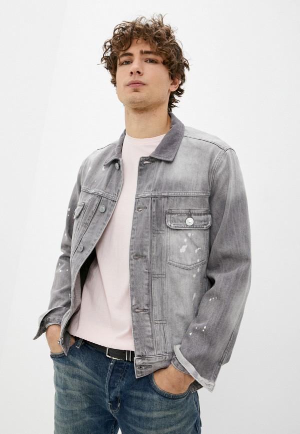 мужская джинсовые куртка allsaints, серая