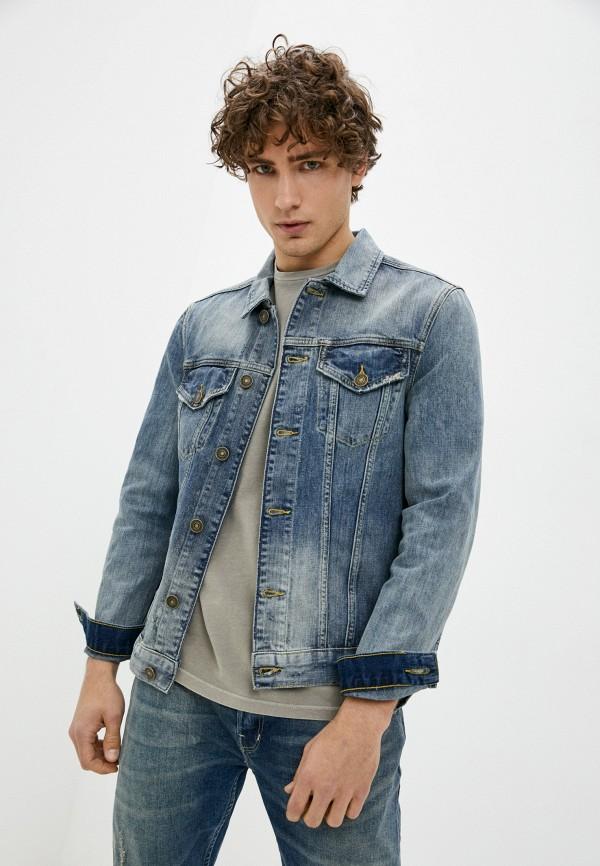 мужская джинсовые куртка allsaints, синяя