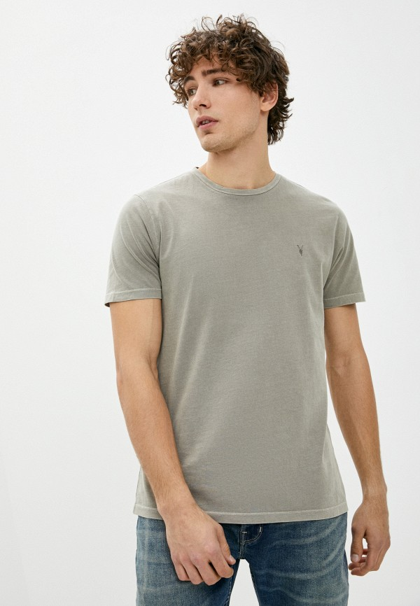 мужская футболка allsaints, бежевая