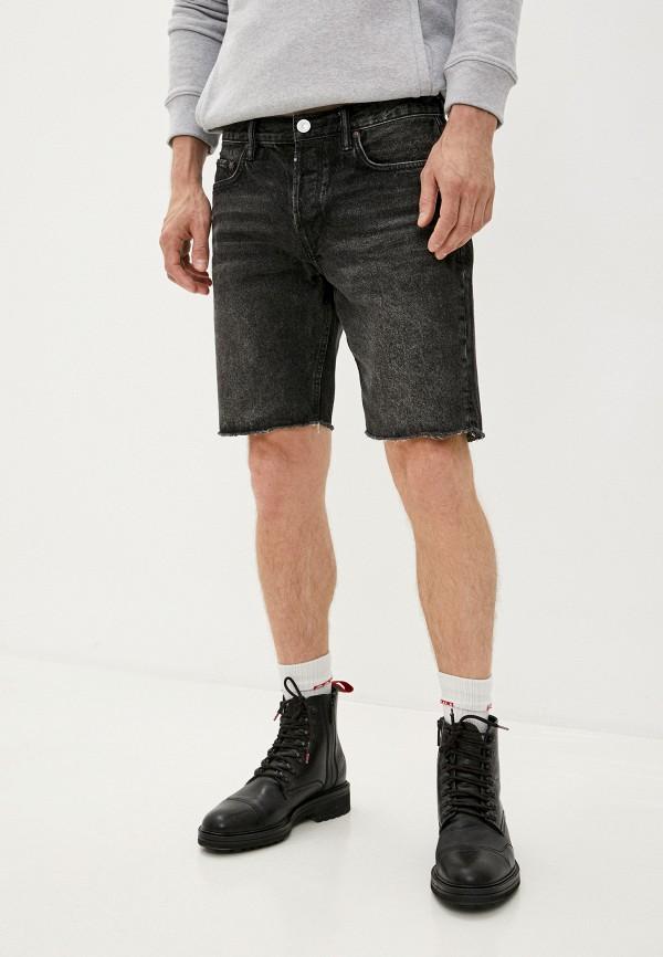мужские джинсовые шорты allsaints, черные