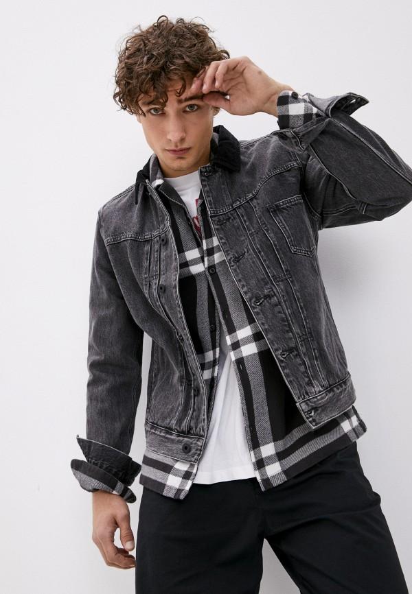 мужская джинсовые куртка allsaints, черная