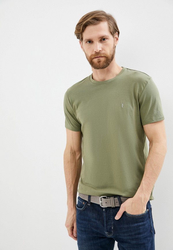 мужская футболка allsaints, зеленая