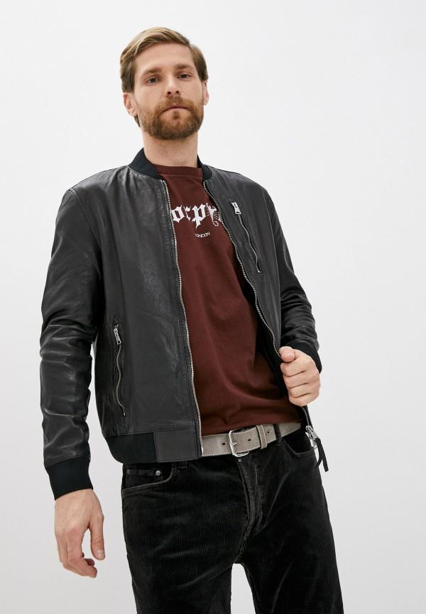 Куртка кожаная AllSaints AllSaints ML048T черный фото