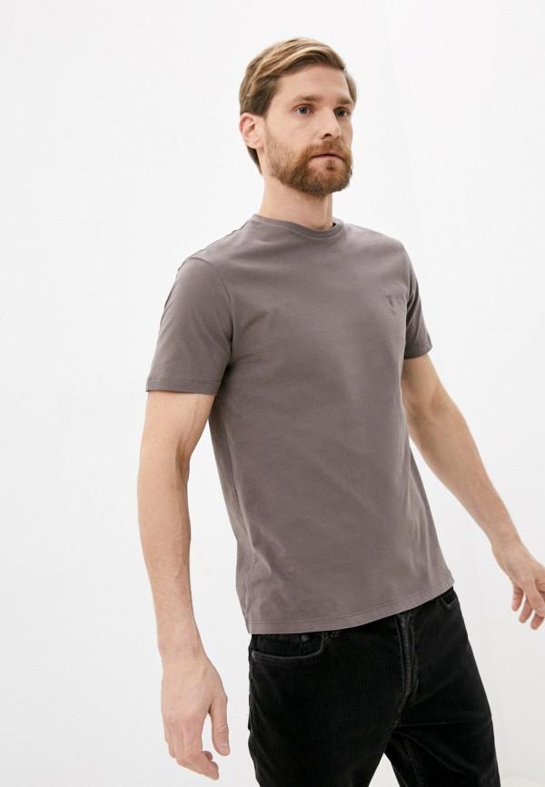 мужская футболка allsaints, серая
