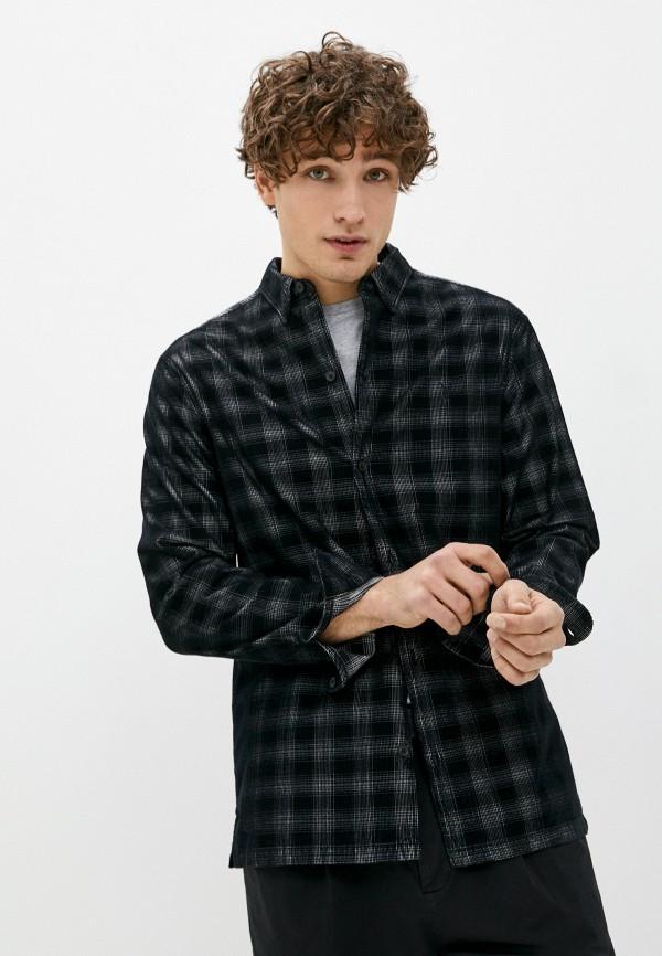 мужская рубашка с длинным рукавом allsaints, черная