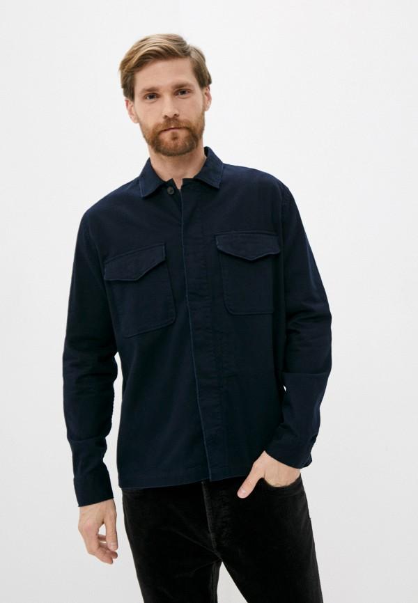Рубашка AllSaints AllSaints MS021T синий фото