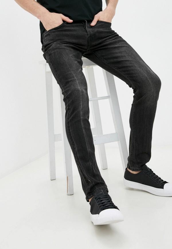 мужские зауженные джинсы allsaints, черные