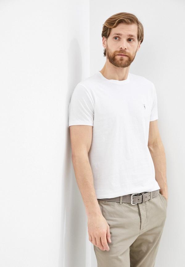 мужская футболка allsaints, белая
