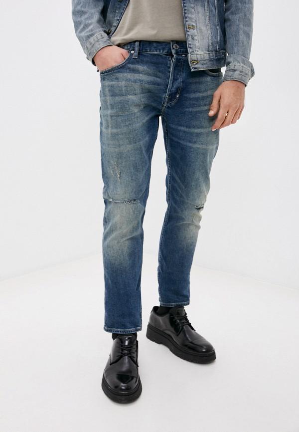 мужские зауженные джинсы allsaints, синие