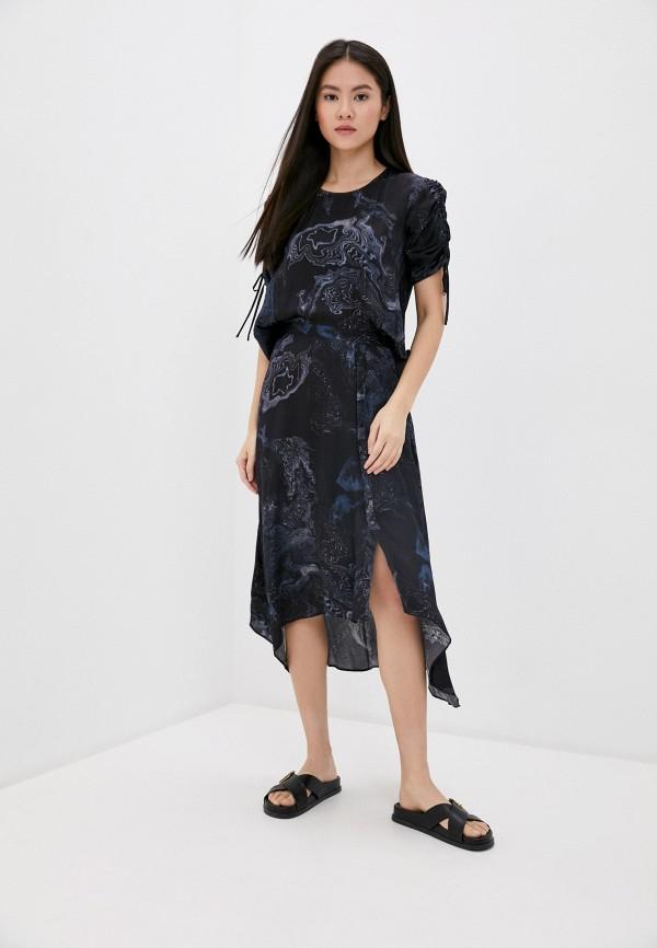 женское повседневные платье allsaints, черное