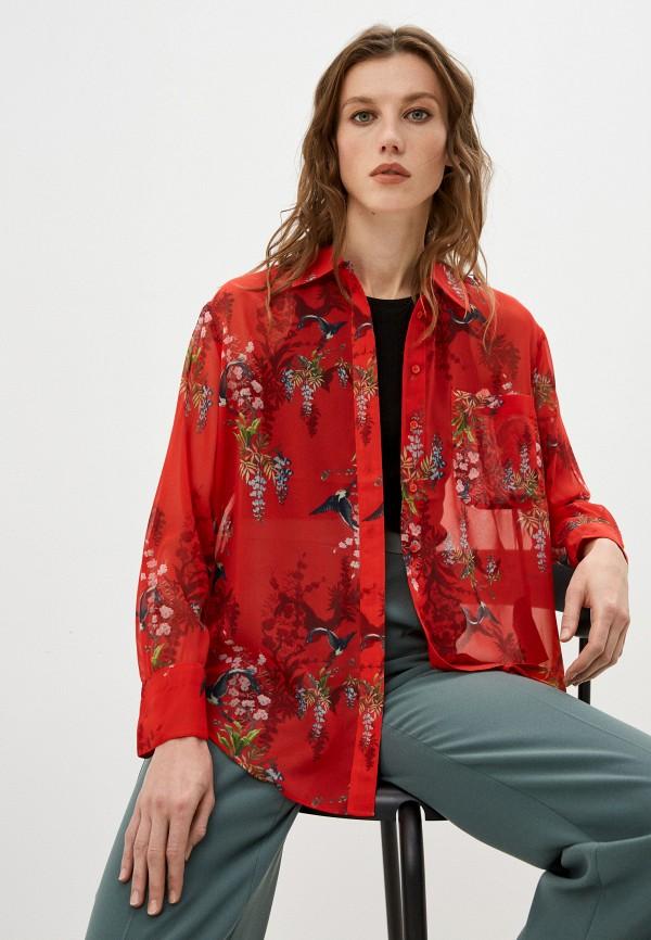 женская блузка allsaints, красная