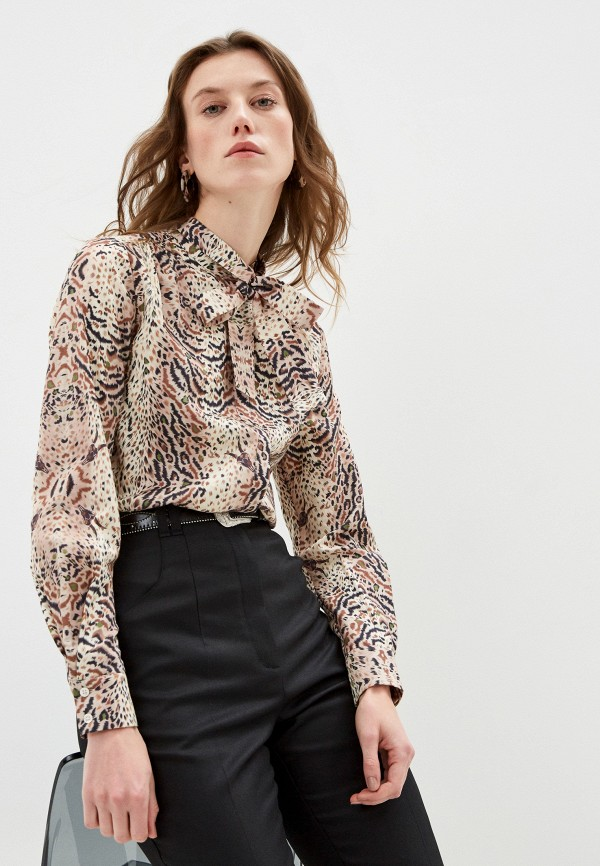 женская блузка allsaints, бежевая
