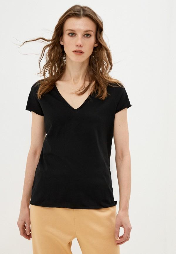 женская футболка allsaints, черная