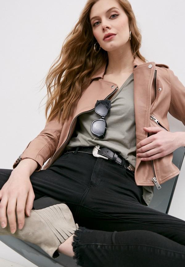 женская куртка allsaints, розовая