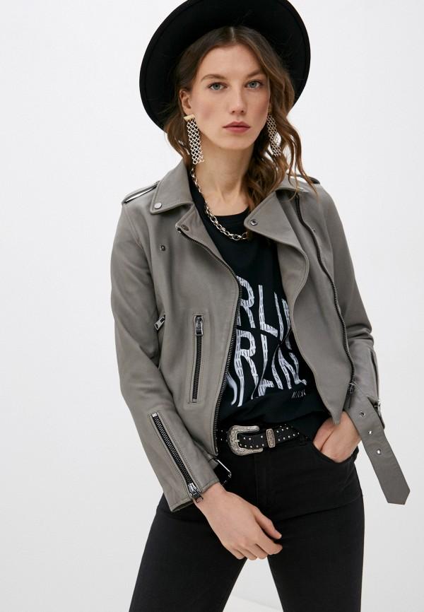 женская куртка allsaints, серая