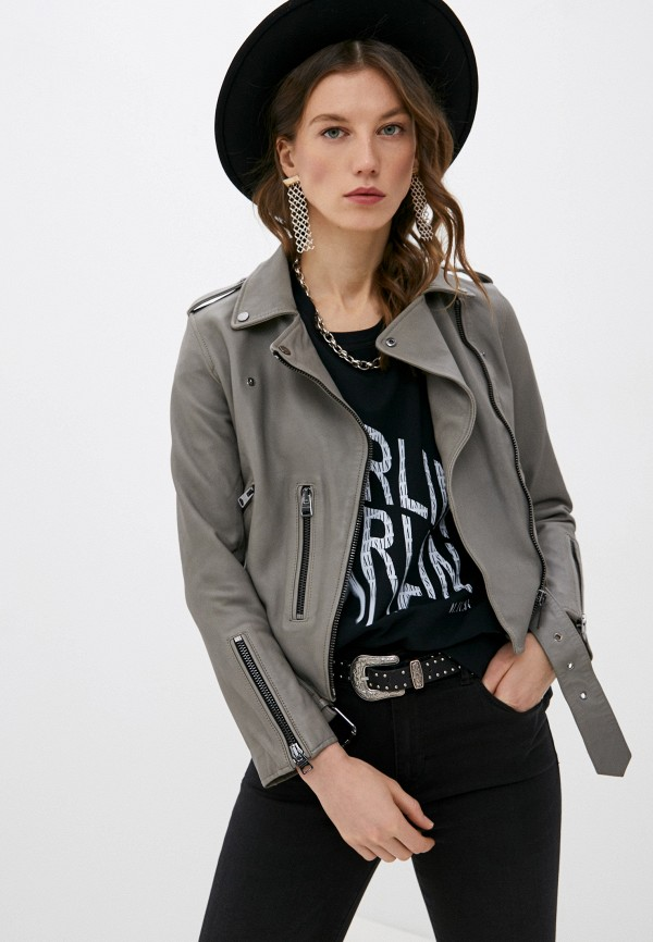 Куртка кожаная AllSaints AllSaints WL244T серый фото