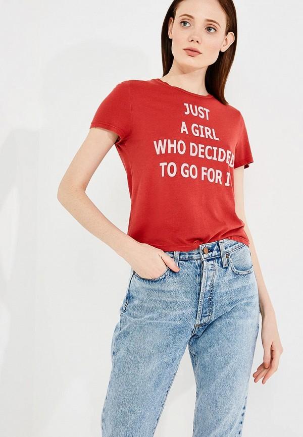 женская футболка alice + olivia, красная