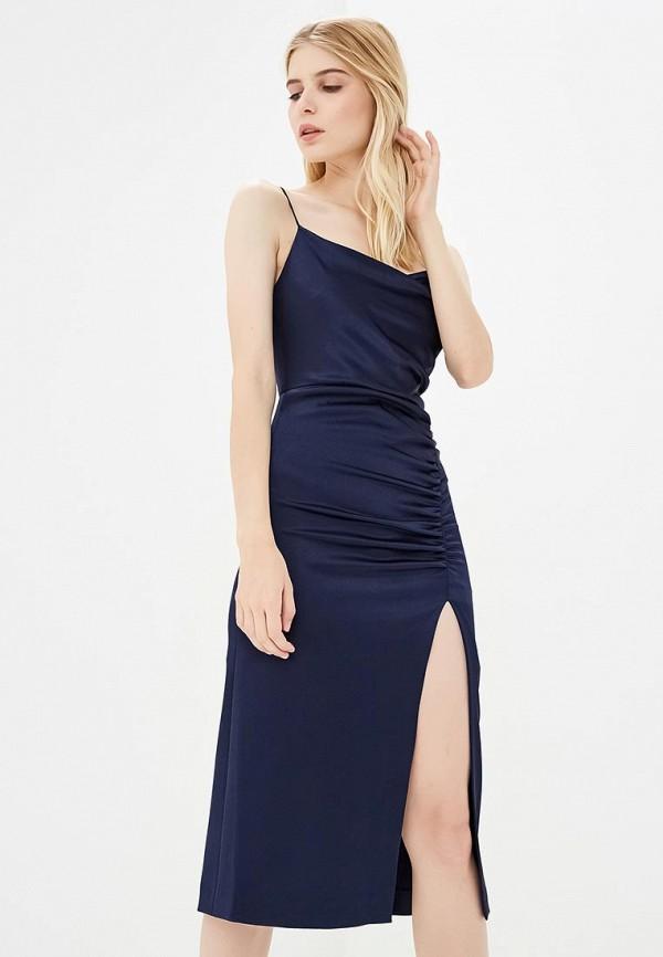 женское вечерние платье alice + olivia, синее