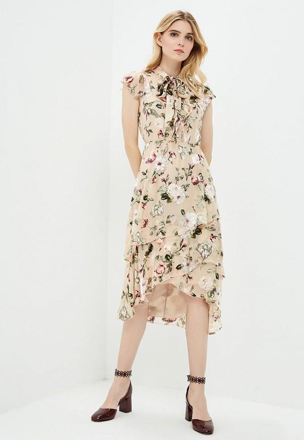 Купить Платье Alice + Olivia, Alice + Olivia AL054EWAIDG2, бежевый, Осень-зима 2018/2019