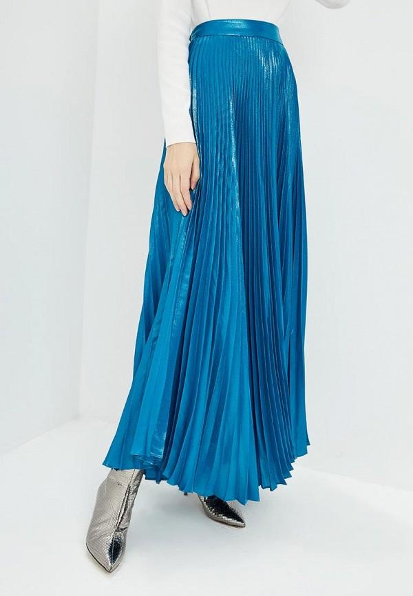 женская юбка alice + olivia, синяя
